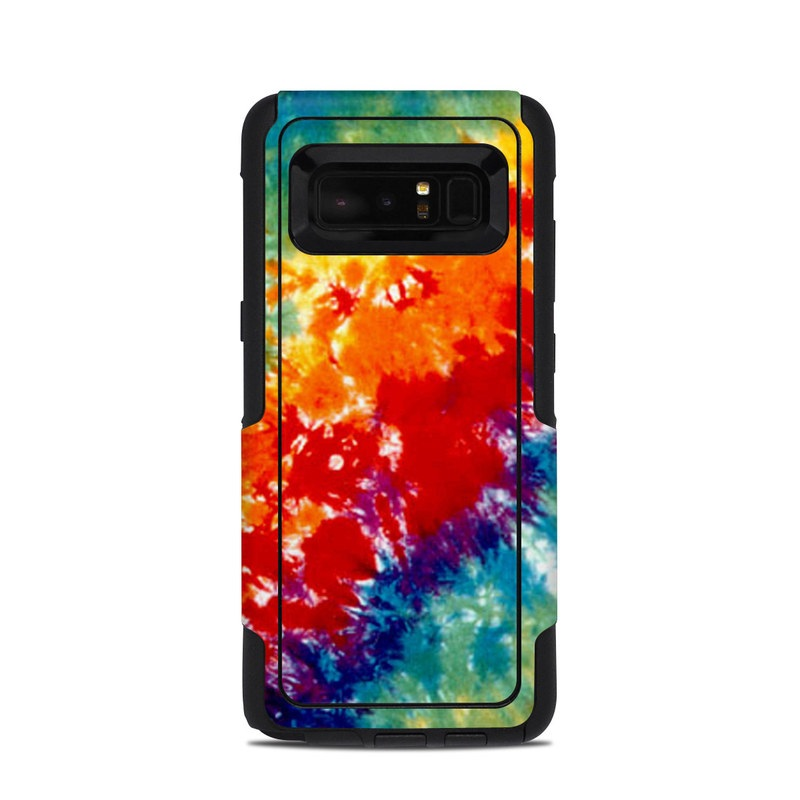 OtterBox Commuter Galaxy Note 8 Case Skin design of Orange, Watercolor paint, Sky, Dye, Acrylic paint, Colorfulness, Geological phenomenon, Art, Painting, Organism with red, orange, blue, green, yellow, purple colors