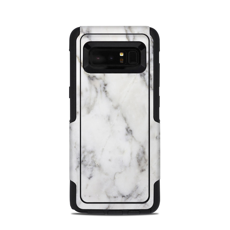 OtterBox Commuter Galaxy Note 8 Case Skin design of White, Geological phenomenon, Marble, Black-and-white, Freezing with white, black, gray colors