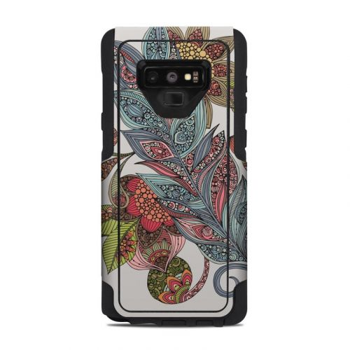 Feather Flower OtterBox Commuter Galaxy Note 9 Case Skin