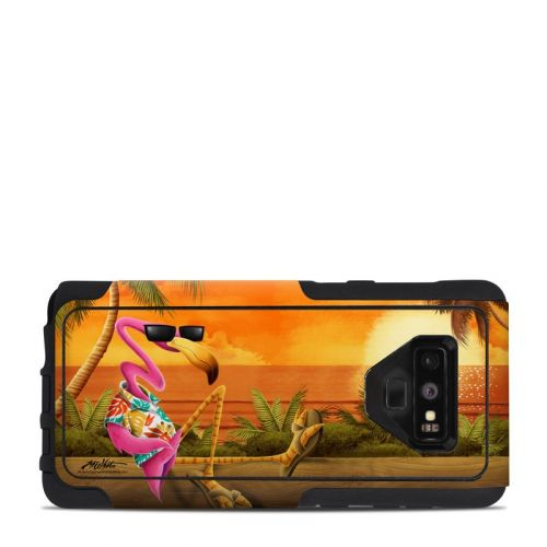 Sunset Flamingo OtterBox Commuter Galaxy Note 9 Case Skin