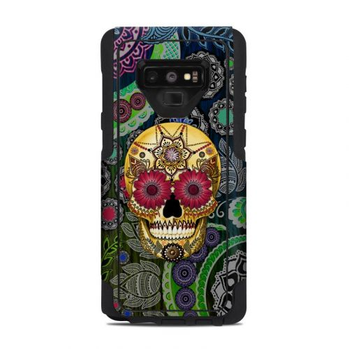 Sugar Skull Paisley OtterBox Commuter Galaxy Note 9 Case Skin