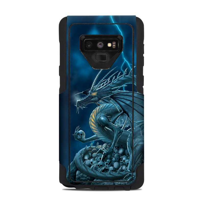 OtterBox Commuter Galaxy Note 9 Case Skin design of Cg artwork, Dragon, Mythology, Fictional character, Illustration, Mythical creature, Art, Demon with blue, yellow colors