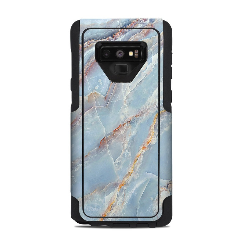 OtterBox Commuter Galaxy Note 9 Case Skin design of Blue, Azure, Aqua, Onyx with blue, red, orange, white colors