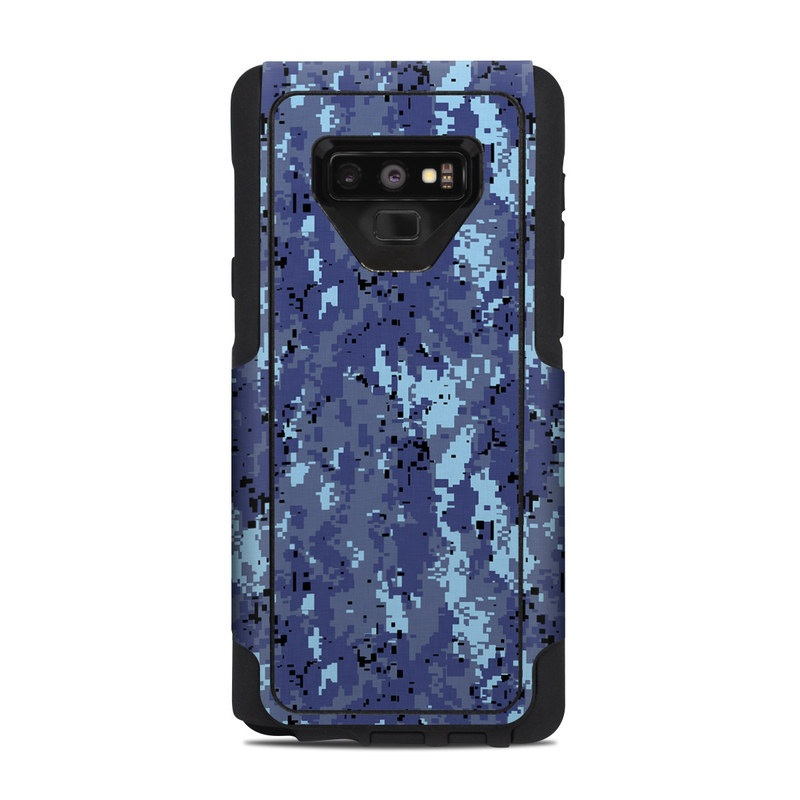 OtterBox Commuter Galaxy Note 9 Case Skin design of Blue, Purple, Pattern, Lavender, Violet, Design with blue, gray, black colors