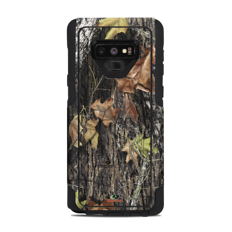 OtterBox Commuter Galaxy Note 9 Case Skin design of Leaf, Tree, Plant, Adaptation, Camouflage, Branch, Wildlife, Trunk, Root with black, gray, green, red colors