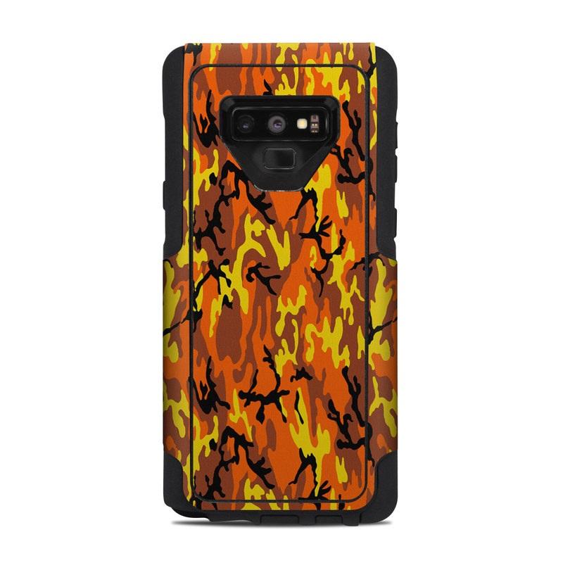 the latest 05c74 44482 Orange Camo OtterBox Commuter Galaxy Note 9 Case Skin