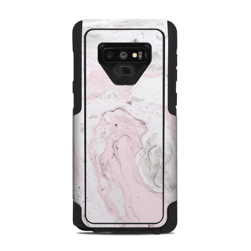 OtterBox Commuter Galaxy Note 9 Case Skin design of White, Pink, Pattern, Illustration with pink, gray, white colors