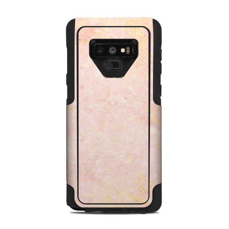 OtterBox Commuter Galaxy Note 9 Case Skin design of Pink, Peach, Wallpaper, Pattern with pink, yellow, orange colors
