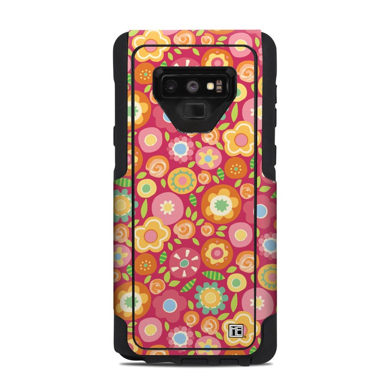 Flowers Squished OtterBox Commuter Galaxy Note 9 Case Skin