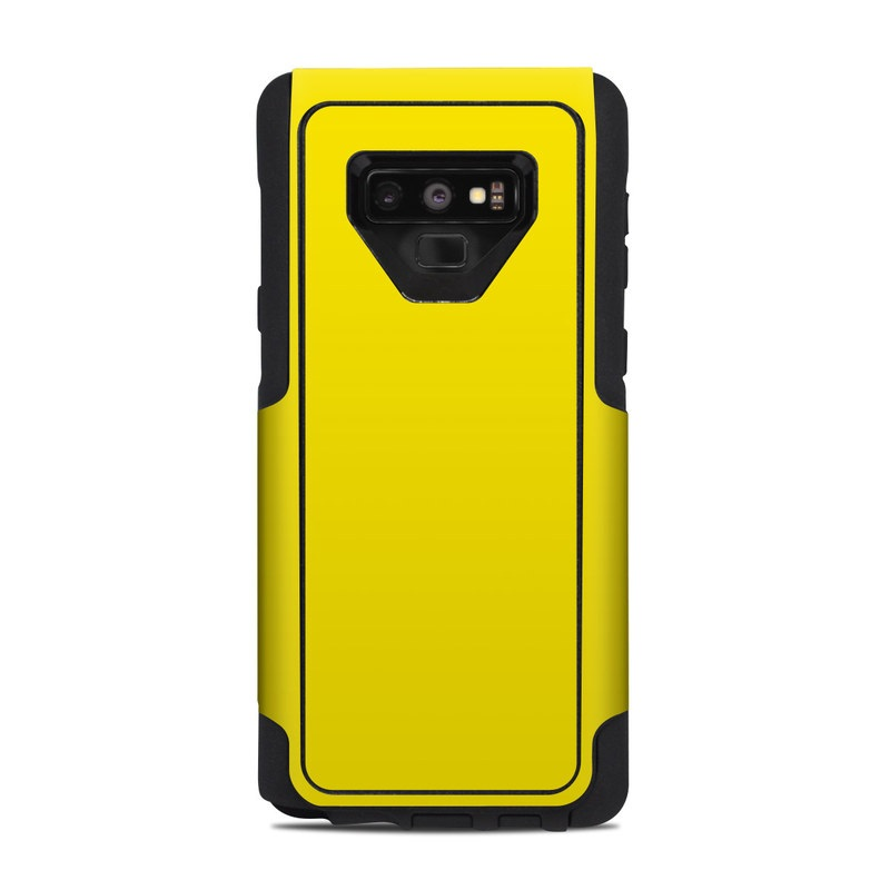 OtterBox Commuter Galaxy Note 9 Case Skin design of Green, Yellow, Orange, Text, Font with yellow colors