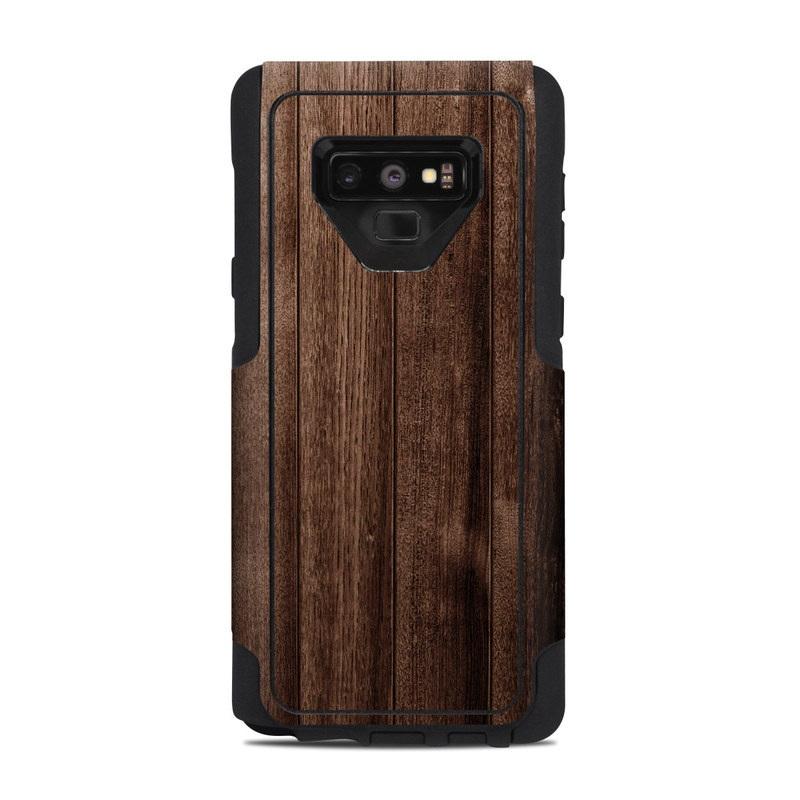 OtterBox Commuter Galaxy Note 9 Case Skin design of Wood, Wood flooring, Hardwood, Wood stain, Plank, Brown, Floor, Line, Flooring, Pattern with brown colors