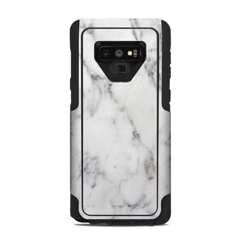 OtterBox Commuter Galaxy Note 9 Case Skin design of White, Geological phenomenon, Marble, Black-and-white, Freezing with white, black, gray colors
