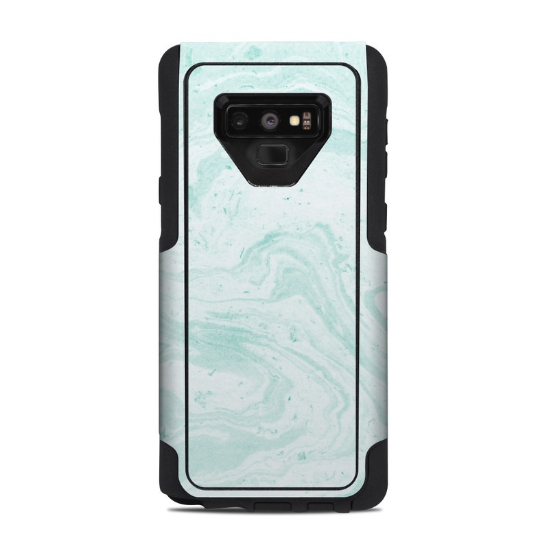 OtterBox Commuter Galaxy Note 9 Case Skin design of White, Aqua, Pattern with green, blue colors