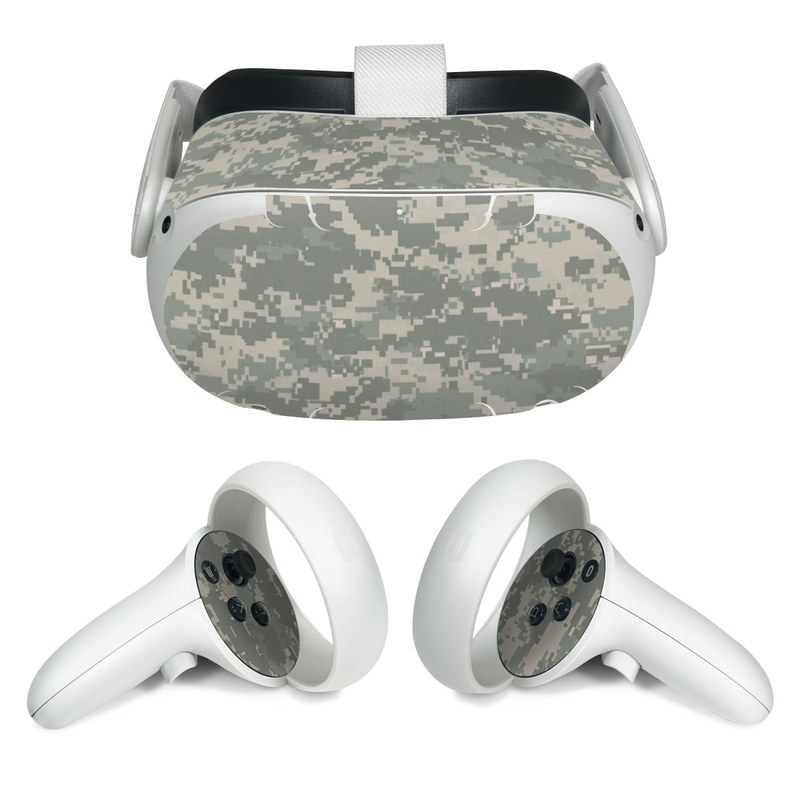 Oculus Quest 2 Skin design of Military camouflage, Green, Pattern, Uniform, Camouflage, Design, Wallpaper with gray, green colors