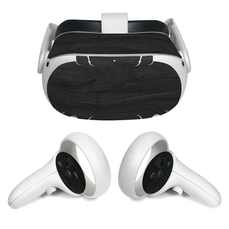 Oculus Quest 2 Skin design of Black, Brown, Wood, Grey, Flooring, Floor, Laminate flooring, Wood flooring with black colors