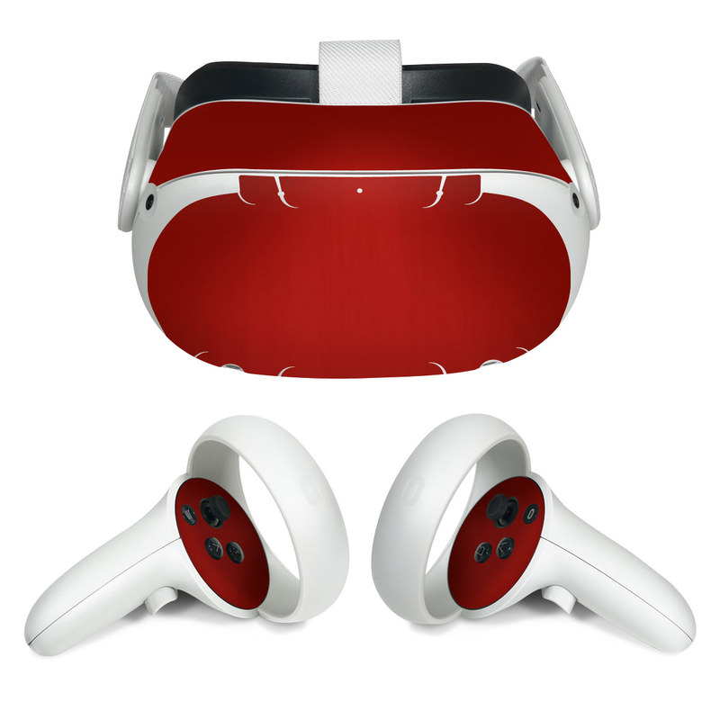 Oculus Quest 2 Skin design of Red, Maroon, Orange, Brown, Peach, Pattern, Magenta with red colors