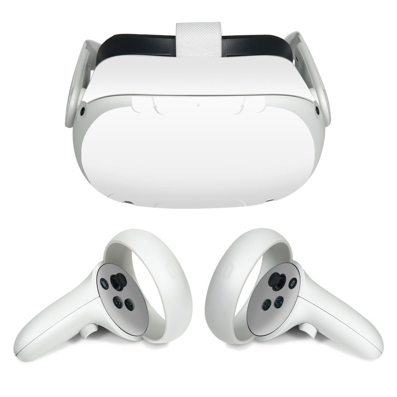 Oculus Quest 2 Skin design of White, Black, Line with white colors