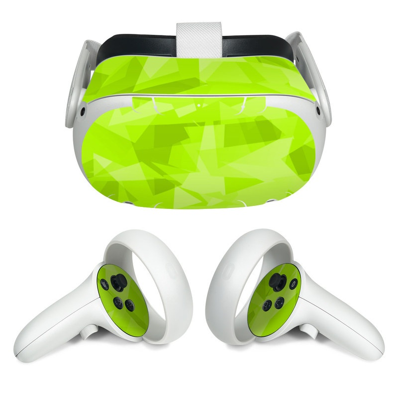 Oculus Quest 2 Skin design with green colors