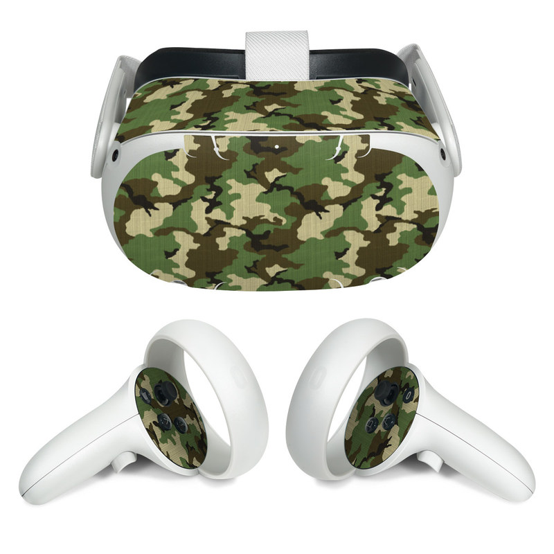 Oculus Quest 2 Skin design of Military camouflage, Camouflage, Clothing, Pattern, Green, Uniform, Military uniform, Design, Sportswear, Plane with black, gray, green colors