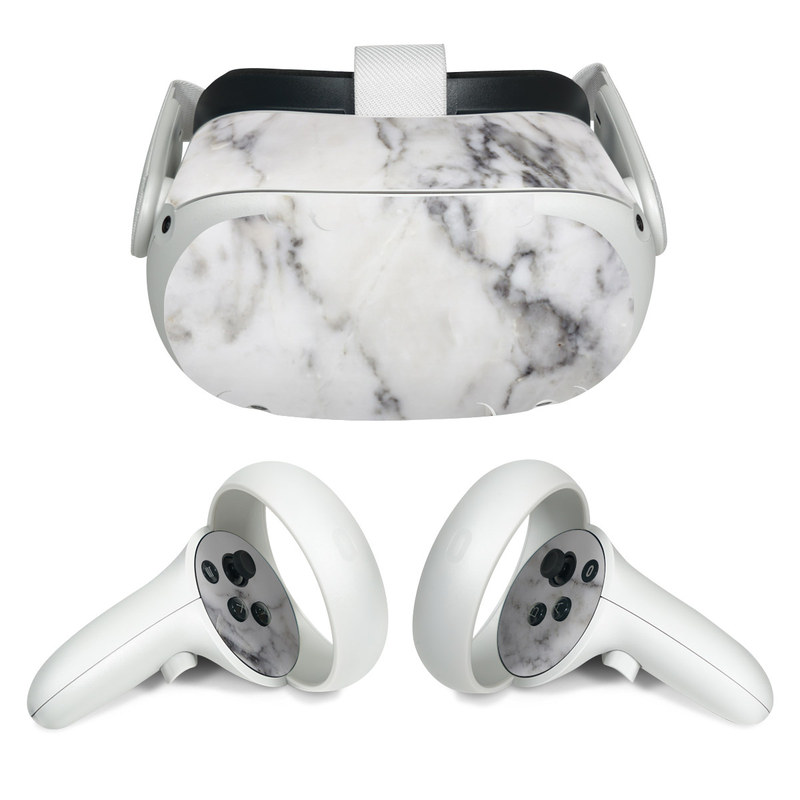 Oculus Quest 2 Skin design of White, Geological phenomenon, Marble, Black-and-white, Freezing with white, black, gray colors