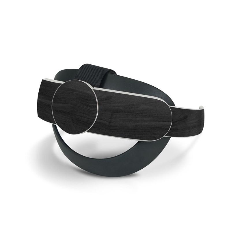 Oculus Quest 2 Elite Strap Skin design of Black, Brown, Wood, Grey, Flooring, Floor, Laminate flooring, Wood flooring with black colors