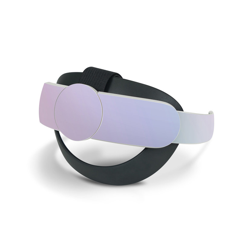 Oculus Quest 2 Elite Strap Skin design of White, Blue, Daytime, Sky, Atmospheric phenomenon, Atmosphere, Calm, Line, Haze, Fog with pink, purple, blue colors