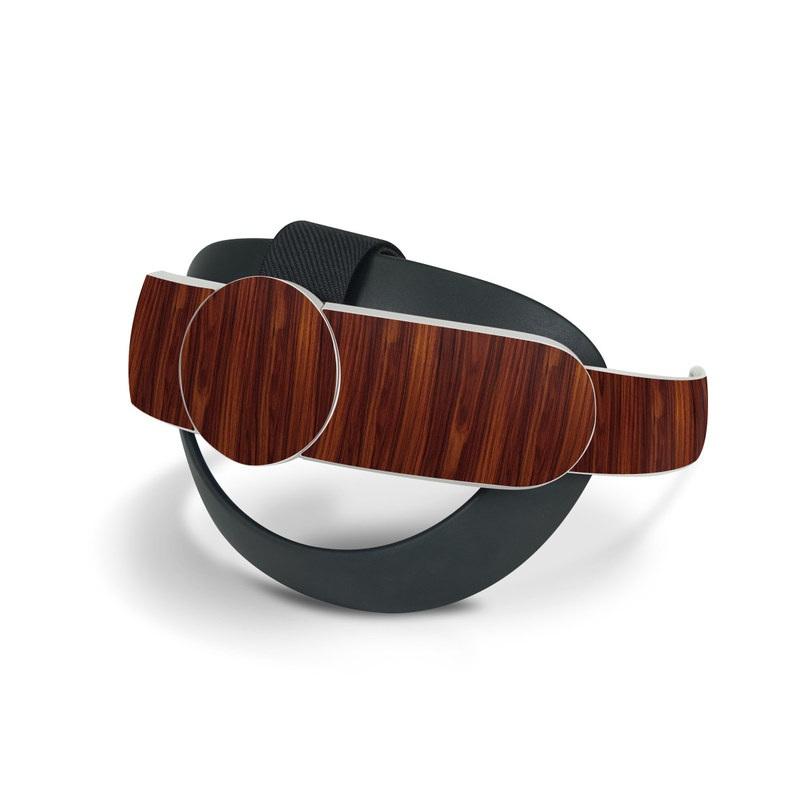 Oculus Quest 2 Elite Strap Skin design of Wood, Red, Brown, Hardwood, Wood flooring, Wood stain, Caramel color, Laminate flooring, Flooring, Varnish with black, red colors