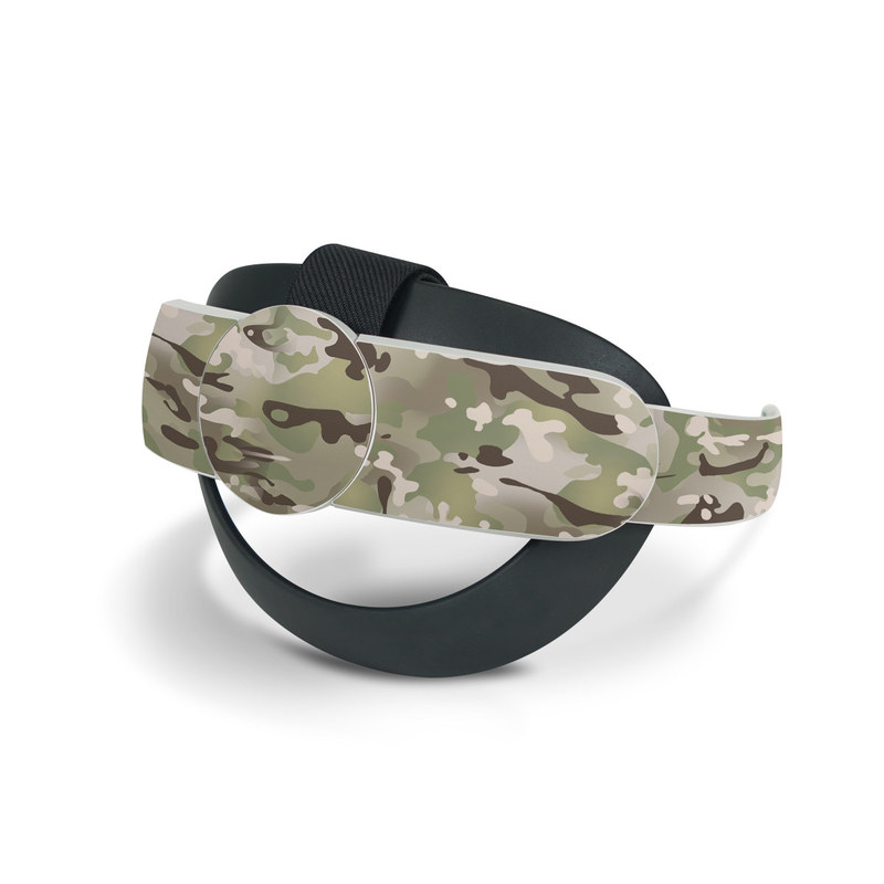 Oculus Quest 2 Elite Strap Skin design of Military camouflage, Camouflage, Pattern, Clothing, Uniform, Design, Military uniform, Bed sheet with gray, green, black, red colors