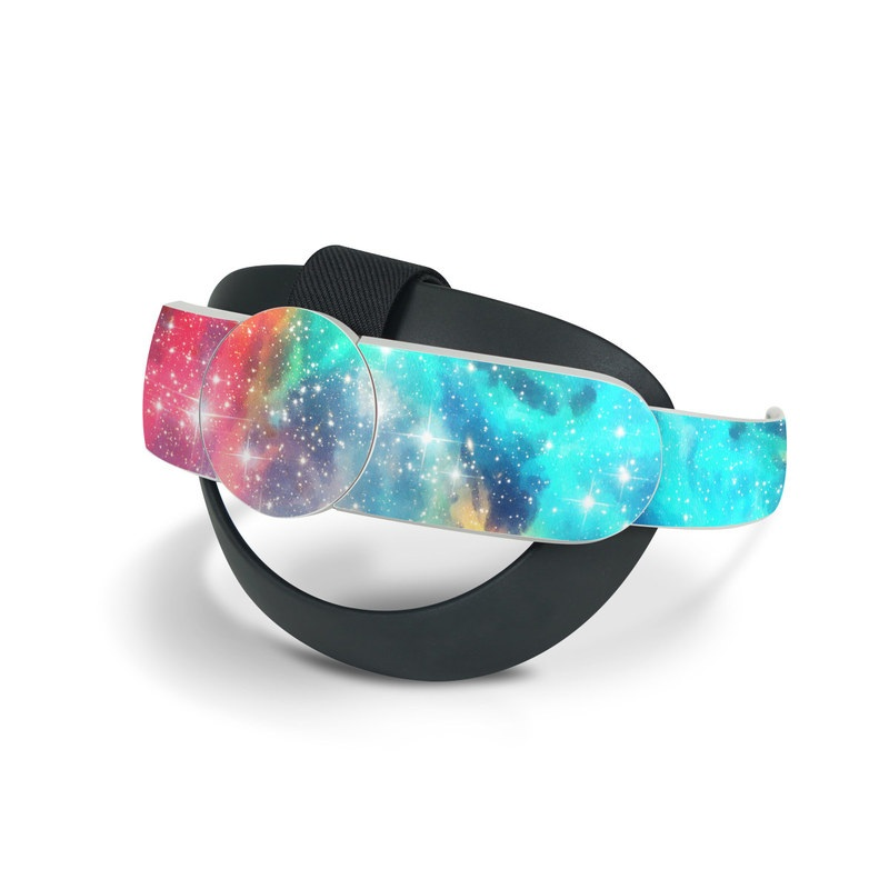 Oculus Quest 2 Elite Strap Skin design of Nebula, Sky, Astronomical object, Outer space, Atmosphere, Universe, Space, Galaxy, Celestial event, Star with white, black, red, orange, yellow, blue colors