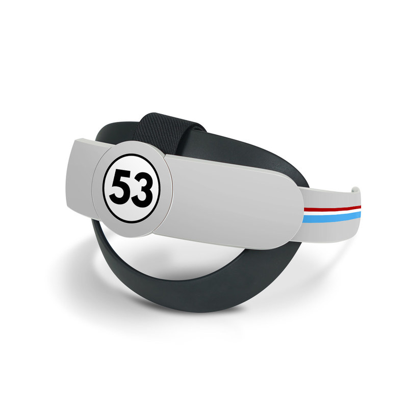 Oculus Quest 2 Elite Strap Skin design of Line, Sign, Games with gray, blue, red, white, black colors