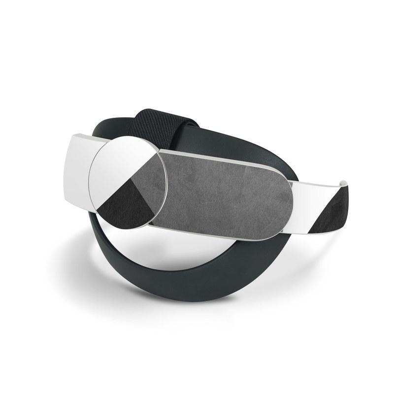 Oculus Quest 2 Elite Strap Skin design of Black, White, Black-and-white, Line, Grey, Architecture, Monochrome, Triangle, Monochrome photography, Pattern with white, black, gray colors