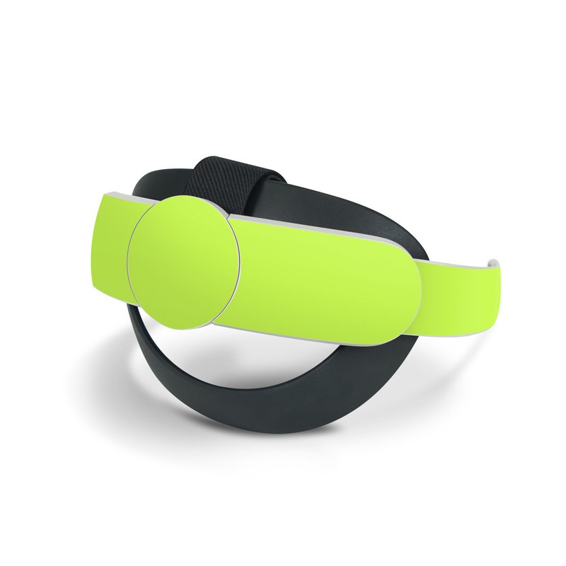 Oculus Quest 2 Elite Strap Skin design of Green, Yellow, Text, Leaf, Font, Grass with green colors