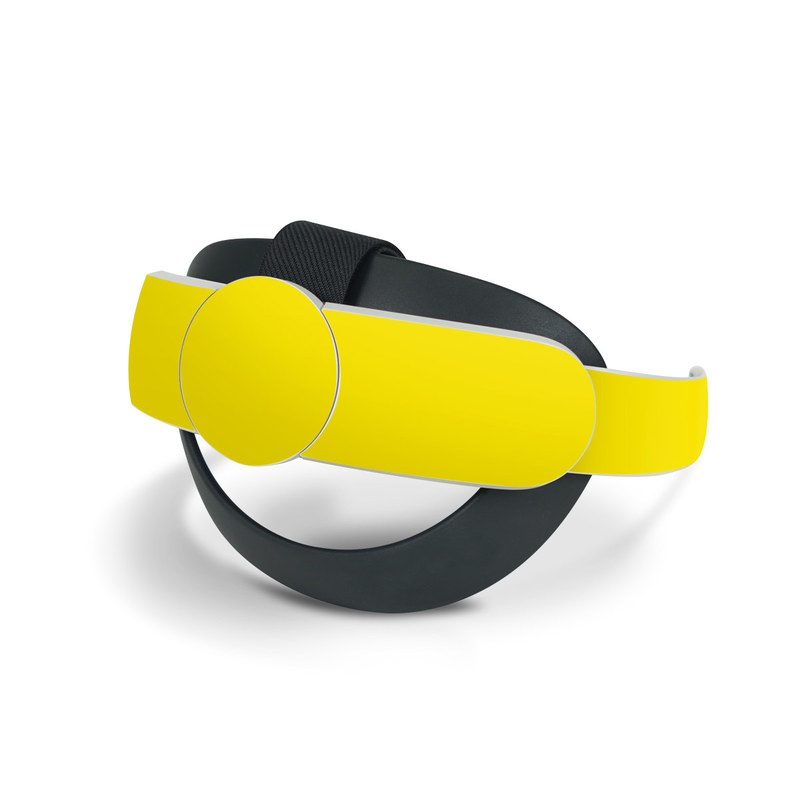 Oculus Quest 2 Elite Strap Skin design of Green, Yellow, Orange, Text, Font with yellow colors