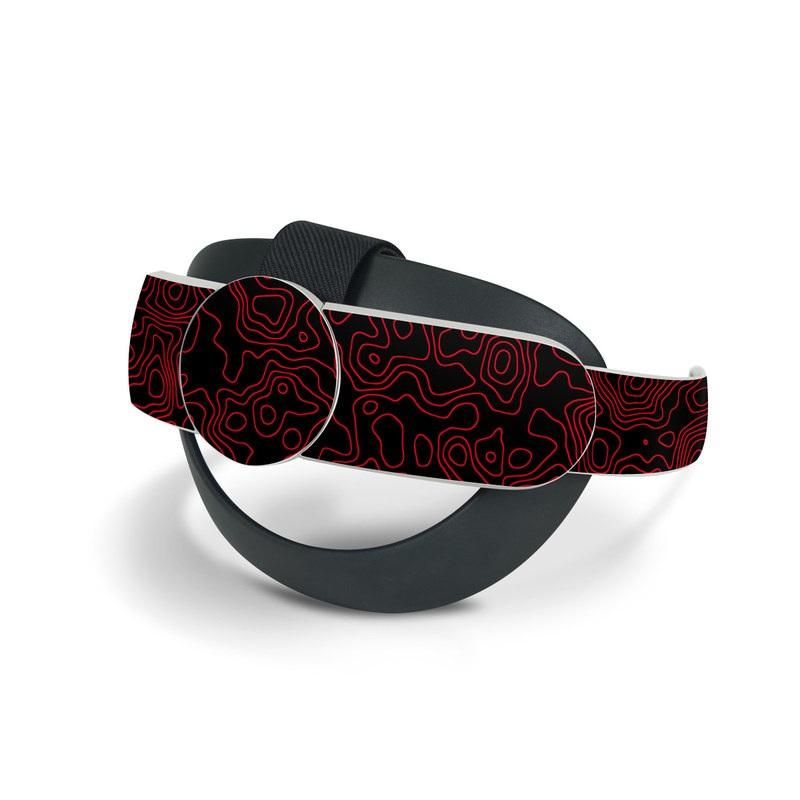 Oculus Quest 2 Elite Strap Skin design of Pink, Art, Motif, Magenta, Font, Pattern, Symmetry, Rectangle, Circle, Electric blue with black, red colors