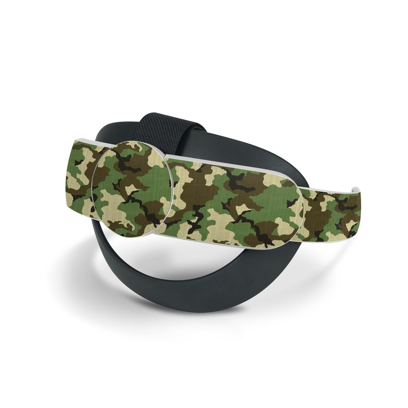 Oculus Quest 2 Elite Strap Skin design of Military camouflage, Camouflage, Clothing, Pattern, Green, Uniform, Military uniform, Design, Sportswear, Plane with black, gray, green colors