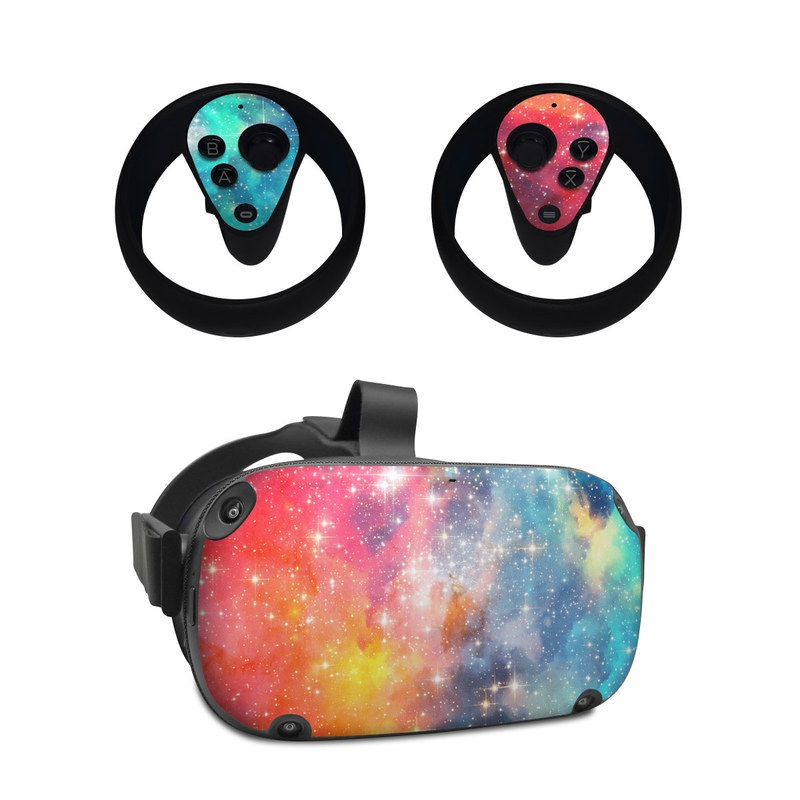 Oculus Quest Skin design of Nebula, Sky, Astronomical object, Outer space, Atmosphere, Universe, Space, Galaxy, Celestial event, Star with white, black, red, orange, yellow, blue colors
