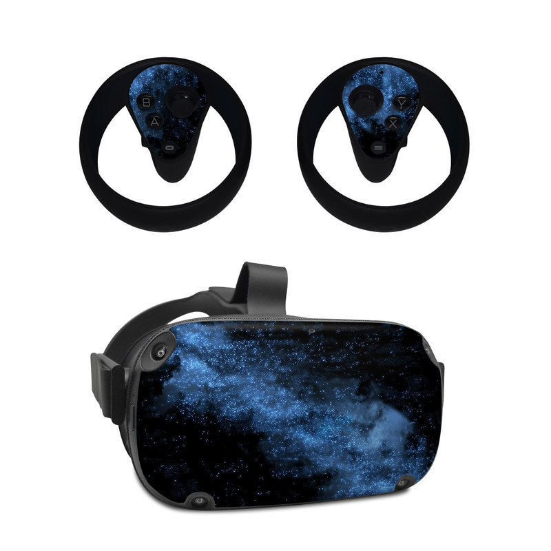 Oculus Quest Skin design of Sky, Atmosphere, Black, Blue, Outer space, Atmospheric phenomenon, Astronomical object, Darkness, Universe, Space with black, blue colors