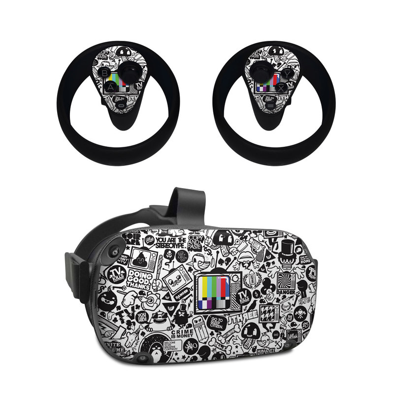 Oculus Quest Skin design of Pattern, Drawing, Doodle, Design, Visual arts, Font, Black-and-white, Monochrome, Illustration, Art with gray, black, white colors