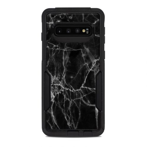 Black Marble OtterBox Commuter Galaxy S10 Case Skin