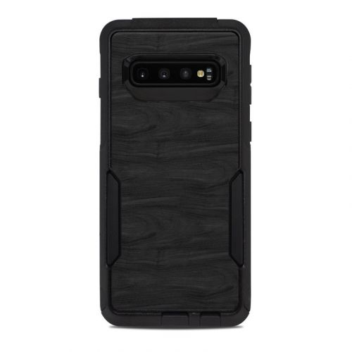 Black Woodgrain OtterBox Commuter Galaxy S10 Case Skin