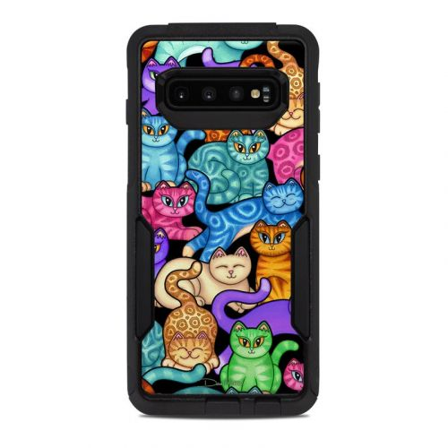 Colorful Kittens OtterBox Commuter Galaxy S10 Case Skin