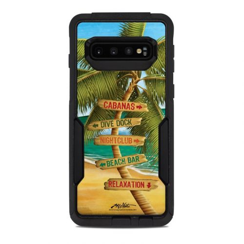 Palm Signs OtterBox Commuter Galaxy S10 Case Skin