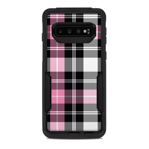 Pink Plaid OtterBox Commuter Galaxy S10 Case Skin