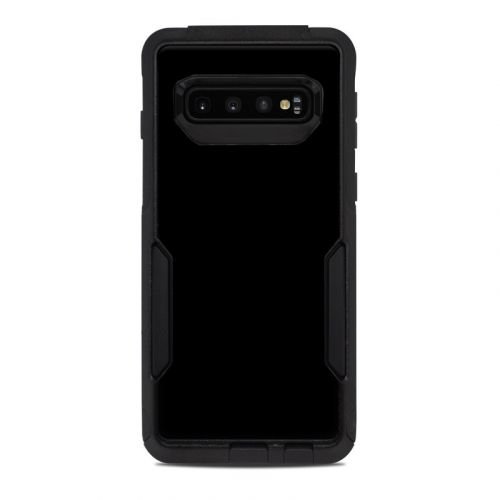 Solid State Black OtterBox Commuter Galaxy S10 Case Skin