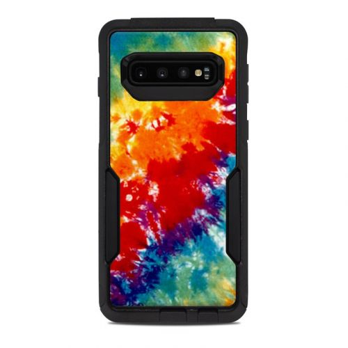 Tie Dyed OtterBox Commuter Galaxy S10 Case Skin