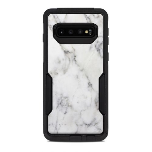 White Marble OtterBox Commuter Galaxy S10 Case Skin