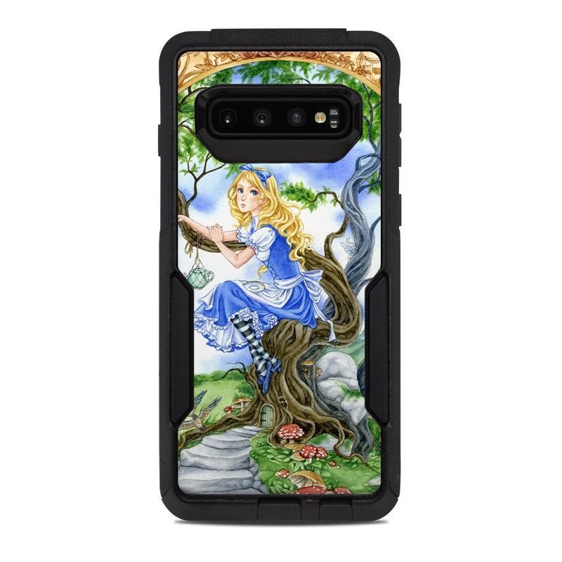 OtterBox Commuter Galaxy S10 Case Skin design of Mythology, Illustration, Fictional character, Cg artwork, Art, Plant, Painting with blue, green, brown, gray, white colors