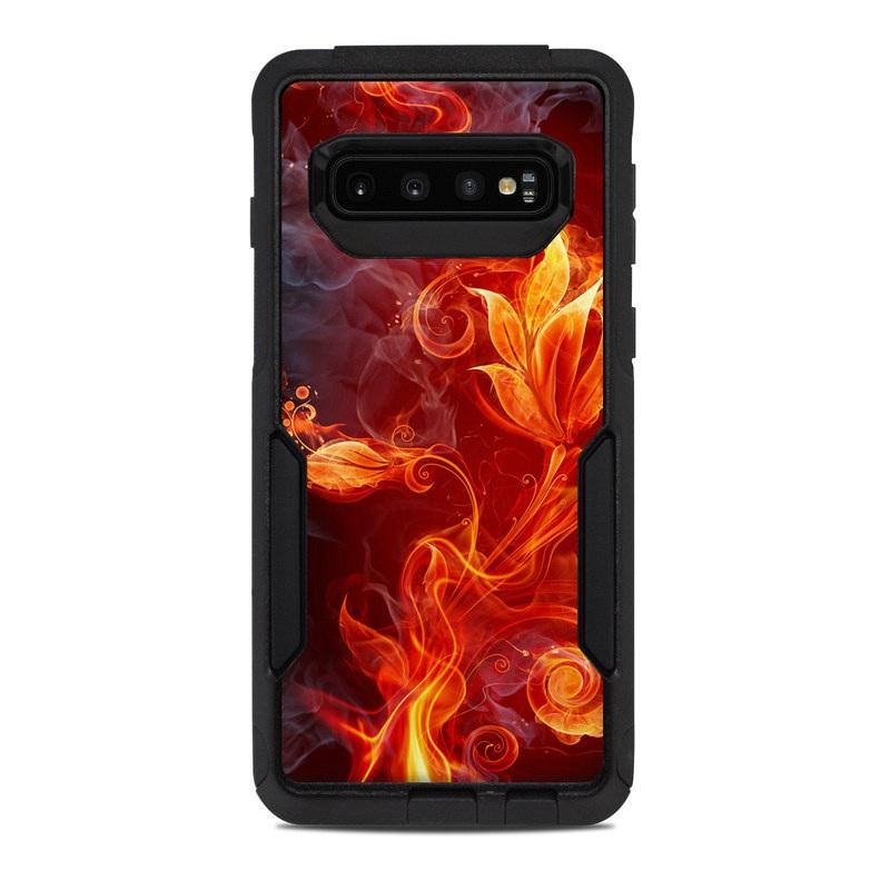 6ae3a0ffa1c OtterBox Commuter Galaxy S10 Case Skin design of Flame, Fire, Heat, Red,