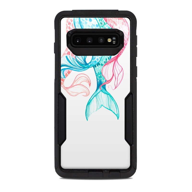 OtterBox Commuter Galaxy S10 Case Skin design of Aqua, Turquoise, Teal, Line, Clip art, Illustration, Line art, Graphics, Graphic design, Drawing with pink, blue, green colors