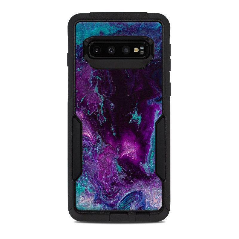 OtterBox Commuter Galaxy S10 Case Skin design of Blue, Purple, Violet, Water, Turquoise, Aqua, Pink, Magenta, Teal, Electric blue with blue, purple, black colors